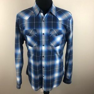 American Eagle Pearl Snap Shirt Vintage Fit XL